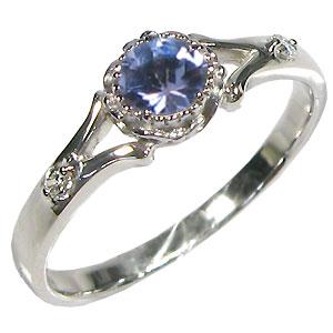 【10%OFFクーポン】5日23:59迄 タンザナイト・リング・10金・シンプル・エンゲージリング・婚約指輪