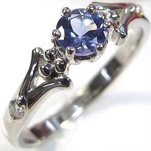 婚約指輪・18金・リング・タンザナイト・エンゲージリング