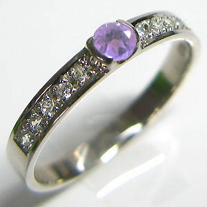 結婚指輪・アメジスト・リング・マリッジリング・k10