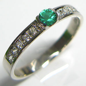 【10%OFF】4日20時~ 結婚指輪・エメラルド・リング・マリッジリング・k18