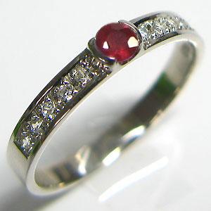 結婚指輪・ルビー・リング・マリッジリング・k10