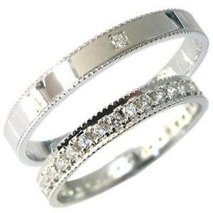 8/25限定【ポイント5倍】プラチナ・ペアリング・ダイヤモンド・結婚指輪・マリッジリング