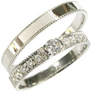 18金・彫金・ペアリング・ダイヤモンド・結婚指輪・マリッジリング