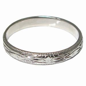 プラチナ・ペアリング・結婚指輪・甲丸・彫金・マリッジリング・2本セットQhrsCtdx