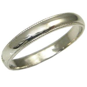 結婚指輪・シンプル・プラチナ・彫金・甲丸リング・マリッジリング・