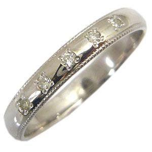 【10%OFFクーポン&P5倍】23日~ダイヤモンド・結婚指輪・シンプル・18金・彫金・甲丸リング・マリッジリング