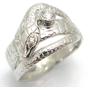 【10%OFF】婚約指輪・ダイヤモンドリング・プラチナ・スネーク・蛇・レディース・エンゲージリング