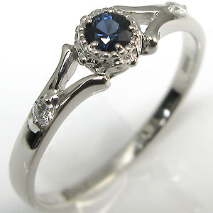 婚約指輪・プラチナ・リング・サファイア・エンゲージリング
