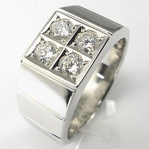 ダイヤモンド 18金 地金 印台リング メンズ 指輪 キャッシュレス5%還元対象 無条件返品・交換 内祝