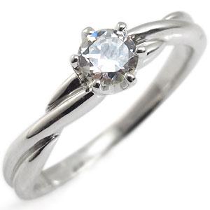 ダイヤモンド・K18ゴールド・リング・シンプル・指輪・一粒