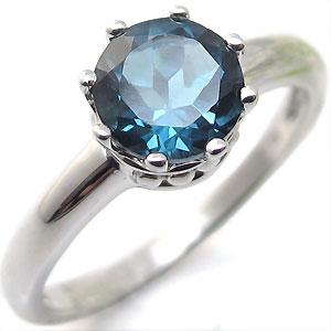 ロンドンブルートパーズ・プラチナ・リング・王子の王冠・クラウン・指輪
