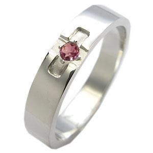 【10%OFFクーポン】5日23:59迄 ピンクトルマリン・リング・k18ゴールド・クロスリング・結婚指輪