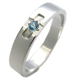【10%OFFクーポン】5日23:59迄 ブルートパーズ・リング・k18ゴールド・クロスリング・結婚指輪