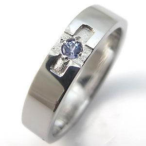 【10%OFF】4日20時~ タンザナイト・リング・k18ゴールド・クロスリング・結婚指輪
