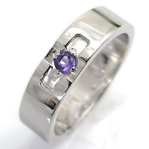 【10%OFF】4日20時~ アメジスト・リング・k18ゴールド・クロスリング・結婚指輪