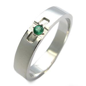 クロスリング・エメラルド・リング・k10・結婚指輪