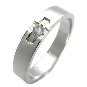 8/15限定クロスリング・ロイヤルブルームーンストーン・リング・k10・結婚指輪