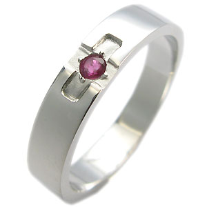 クロスリング・ルビー・リング・k10・結婚指輪