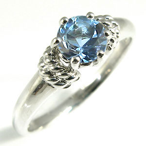 サンタマリアアクアマリン・リング・プラチナ・大粒・婚約指輪・エンゲージリング