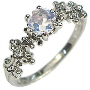 【10%OFF】4日20時~ K10・リング・ロイヤルブルームーンストーン・大粒・エンゲージリング・婚約指輪
