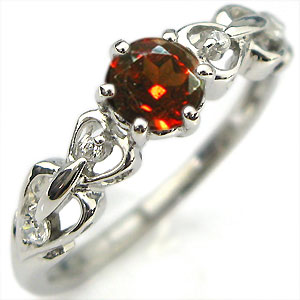 1日限定【10%OFFクーポン&P2倍】 ガーネット・リング・K10・婚約指輪・一粒・ハート・エンゲージリング