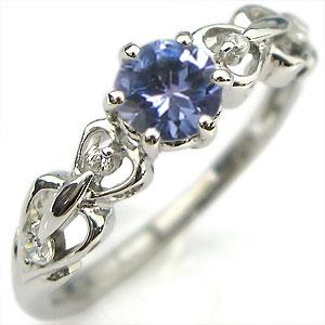 2日20時~ 婚約指輪・タンザナイト・リング・プラチナ・ハート・エンゲージリング