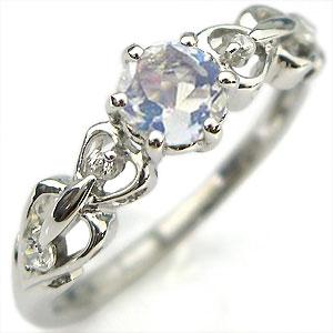 ロイヤルブルームーンストーン・リング・K10・婚約指輪・一粒・ハート・エンゲージリング