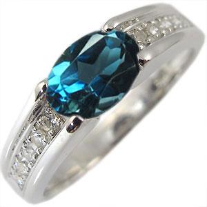 一粒・ロンドンブルートパーズ・リング・k18・指輪