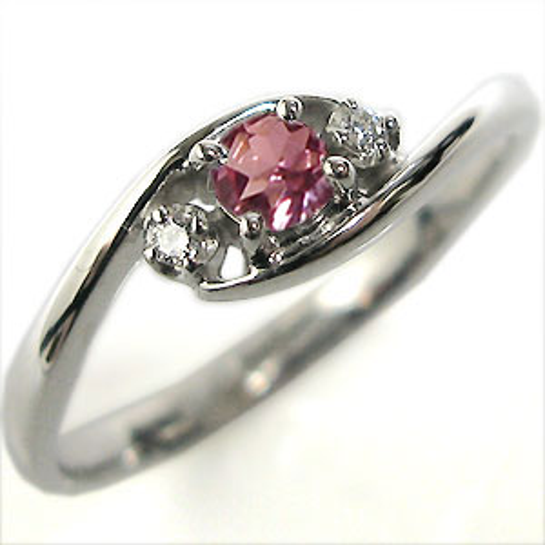 【10%OFF】4日20時~ ピンクトルマリン K10 リング エンゲージリング 婚約指輪
