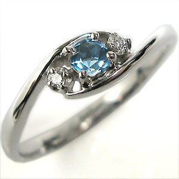 【10%OFFクーポン】5日23:59迄 プラチナ エンゲージリング ブルートパーズ 婚約指輪