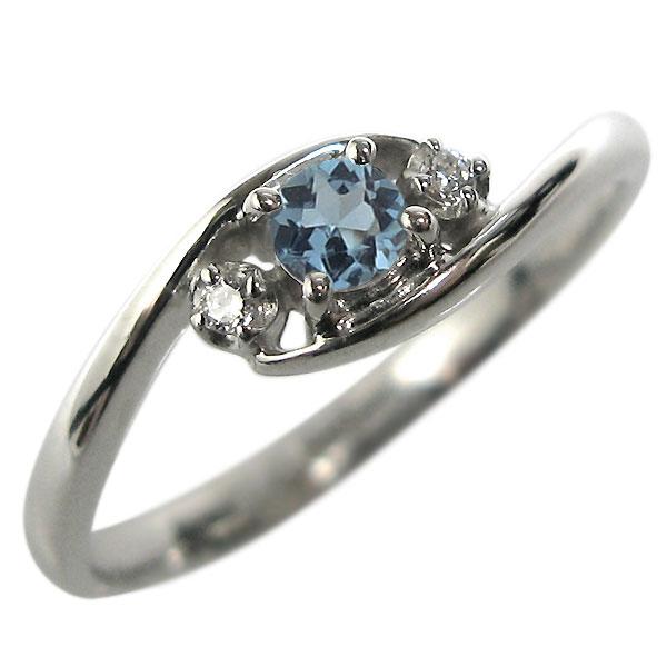 サンタマリアアクアマリン・K10・リング・エンゲージリング・婚約指輪