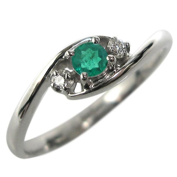 エメラルド・K10・リング・エンゲージリング・婚約指輪