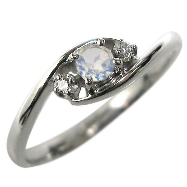 【10%OFFクーポン】5日23:59迄 プラチナ エンゲージリング ロイヤルブルームーンストーン 婚約指輪