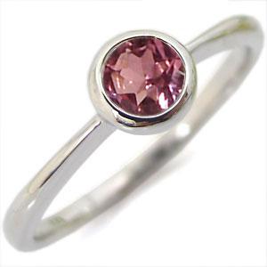 【10%OFFクーポン】5日23:59迄 ピンクトルマリン リング 指輪 一粒 K10 ピンキーリング 爪なし 10月誕生石