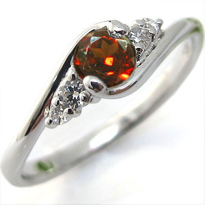 K18・ガーネット・リング・大粒・婚約指輪・エンゲージリング