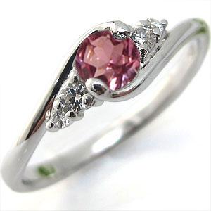 エンゲージリング ピンクトルマリン K10 婚約指輪 大粒 指輪:PLEJOUR-プレジュール-
