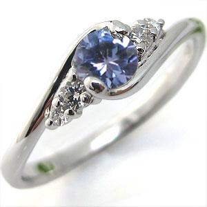タンザナイト リング プラチナ 大粒 婚約指輪 エンゲージリング