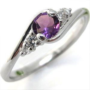 エンゲージリング アメジスト K10 婚約指輪 大粒 指輪