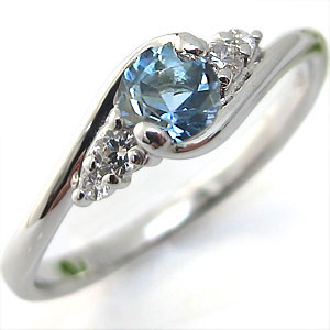 K18・アクアマリンサンタマリア・リング・大粒・婚約指輪・エンゲージリング