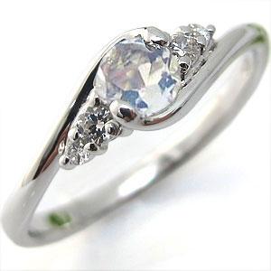 婚約指輪 K18 リング エンゲージリング 大粒 ロイヤルブルームーンストーン