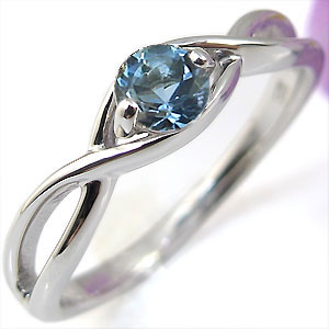 K18・リング・アクアマリンサンタマリア・婚約指輪・大粒・エンゲージリング