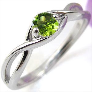 ペリドット・エンゲージリング・K10・婚約指輪・大粒・指輪