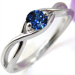 サファイア・エンゲージリング・K10・婚約指輪・大粒・指輪