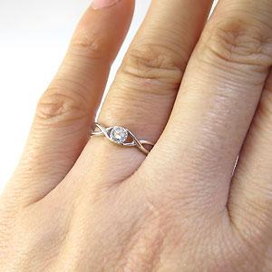 ダイヤモンド・リング・シンプル・一粒・指輪・プラチナeIH9EYWDb2