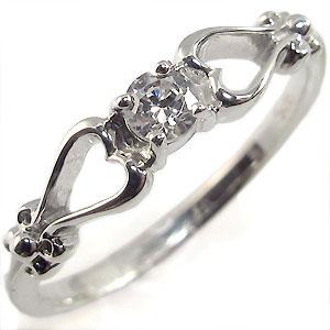 【10%OFF】4日20時~ K18・ダイアモンド・リング・一粒・指輪・ハート