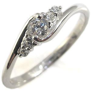 指輪・一粒・シンプル・リング・ダイヤモンド・プラチナ