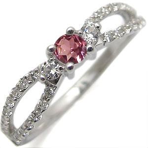 ピンクトルマリン・指輪・K10・ダイアモンド・アンティーク・リング