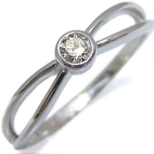 K18・指輪・ダイヤモンド・一粒・シンプル・リング