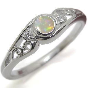 指輪・オパール・リング・一粒・10金・オパールリング