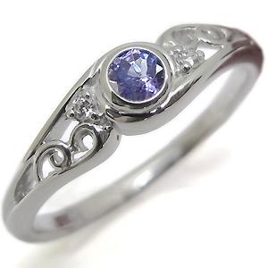 プラチナ・タンザナイト・リング・一粒・タンザナイトリング・指輪